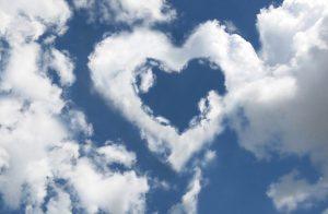 magasság, szív a felhőben