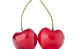 két szív alakú cseresznye, fészekhinta emlékeztető